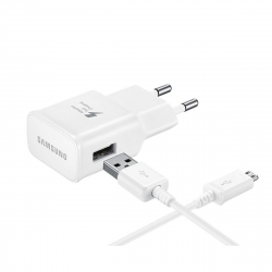 Samsung pack transformador USB 2A + Cable USB-Tipo C 1m blanco