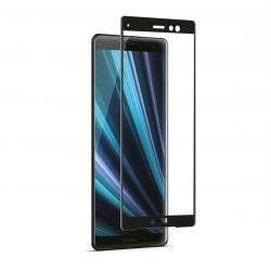 Made for Xperia protector pantalla Sony Xperia XZ3 vidrio templado curvo con aplicador