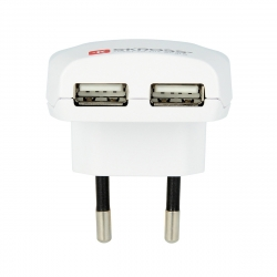 Skross transformador USB 2 puertos 2.4A blanco
