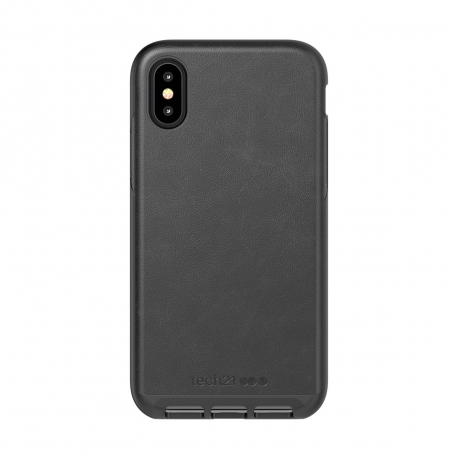 Tech21 carcasa Evo Luxe Apple iPhone Xs/X piel negra