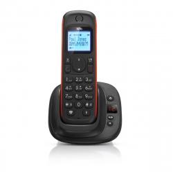 AEG teléfono inalámbrico Thor 15 Indoor negro/rojo