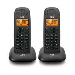 AEG teléfono inalámbrico Voxtel D85 Twin negro