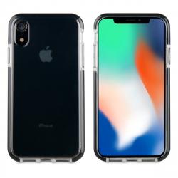 muvit Tiger Soft funda Apple iPhone XR shockproof 2m transparente + borde negro