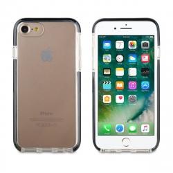 muvit Tiger funda Soft Apple iPhone SE/8/7 shockproof 2M transparente + borde negro