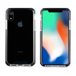 muvit Tiger Hard funda Apple iPhone XR shockproof 3m transpaente + borde negro