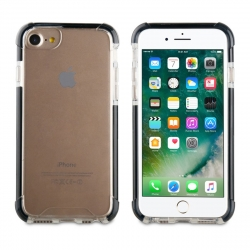 muvit Tiger carcasa Hard Apple iPhone 8/7 shockproof 3m transparente + borde negro