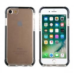 muvit Tiger Hard funda Apple iPhone 8/7 shockproof 3m transparente + borde negro