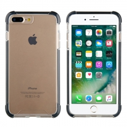 muvit Tiger carcasa Hard Apple iPhone 8 Plus/7 Plus shockproof 3m transparente + borde negro