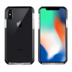 muvit Tiger Hard funda Apple iPhone Xs/X shockproof 3m transparente + borde negro