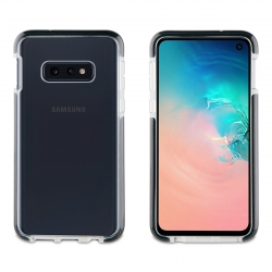 muvit Tiger soft funda Samsung Galaxy S10e shockproof 2m transparente + borde negro