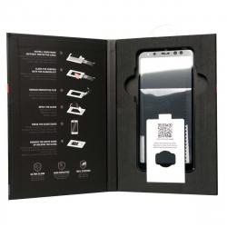 muvit Tiger Glass Samsung Galaxy A8 2018 vidrio templado curvo case friendly marco negro con aplicador