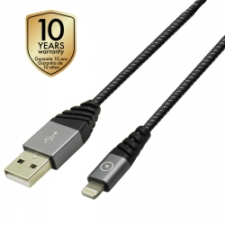 muvit Tiger cable USB Lightning MFI 2,4A 1,2m gris