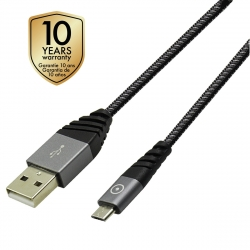 muvit Tiger cable USB Micro USB 2,4A 1,2m gris