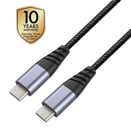 muvit Tiger cable USB Tipo C A Tipo C 2.0 3A 1,2m gris