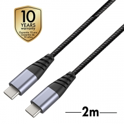 muvit Tiger cable USB Tipo C A Tipo C 2.0 3A 2m gris