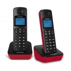 Thomson teléfono inalámbrico Mica Duo negro/rojo