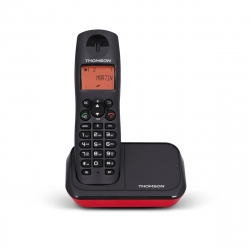 Thomson teléfono inalámbrico Mica Plus negro/rojo