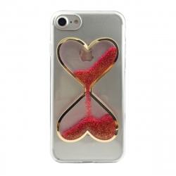 Carcasa Reloj Arena corazones rojos para Apple iPhone 7