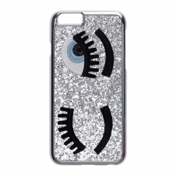 Carcasa plateada ojos para Apple iPhone 7