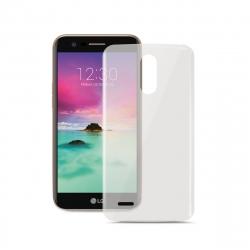 Vodafone pack LG K10 2017 funda transparente + protector pantalla flexible
