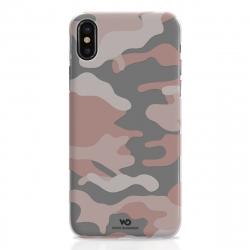 White Diamonds carcasa Camuflaje Apple iPhone Xs/X rosa translúcida