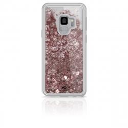 White Diamonds carcasa Sparkle Samsung Galaxy S9 oro rosa corazones