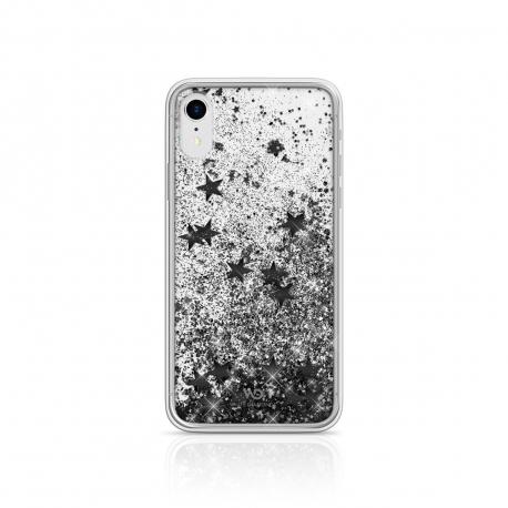 White Diamonds carcasa Apple iPhone XR Sparkle estrellas negras