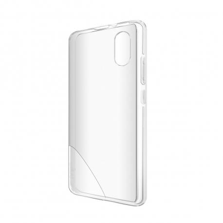 Wiko pack Wiko Sunny 2 carcasa transparente azul + protector pantalla flexible