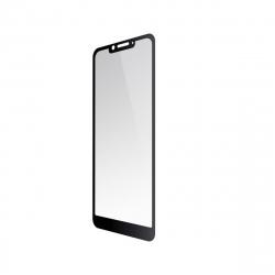 Wiko protector pantalla Wiko View 2 Plus vidrio templado plano marco negro