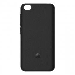made for MI pack Xiaomi Redmi GO carcasa tacto piel negra + protector de pantalla vidrio templado plano
