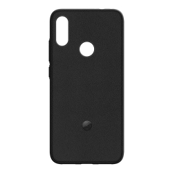 made for MI pack Xiaomi Redmi note 7 carcasa tacto piel negra +protector de pantalla vidrio templado plano