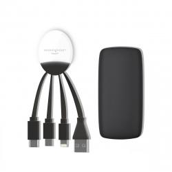 Xoopar Weekender Power Pack adaptador multi conector y batería de emergencia 5000 mAh negro