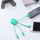 Xoopar Octopus Adaptador USB multi conector con orificio para llavero verde