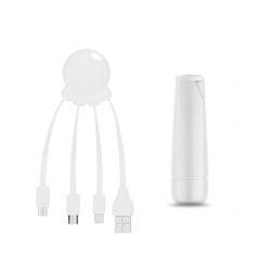 Xoopar After Work Power Pack adaptador multi conector + batería emergencia 2600 mAh blanco