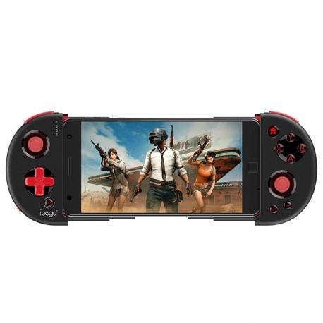 ÍPEGA mando de juegos para Smartphone compatible con Android & IOS con función turbo negro y rojo