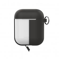 Puro funda silicona Apple Airpods+tapa adicional gris oscuro