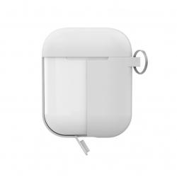Puro funda silicona Apple Airpods+tapa adicional blanca