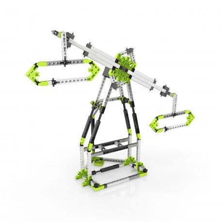 Engino Education E92 Kit motorizado de contrucción STEAM parque de atracciones: London Eye y Noria