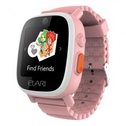 Elari Fixitime 3 Reloj inteligente para niños con GPS/Glonass/LBS/WiFi, seguimiento y botón SOS rosa