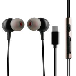 muvit auriculares estéreo M1C Tipo C magnéticos negro