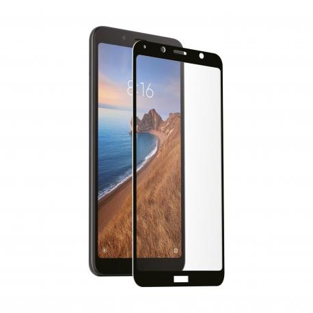 muvit protector pantalla Xiaomi Redmi 7A vidrio templado plano marco negro