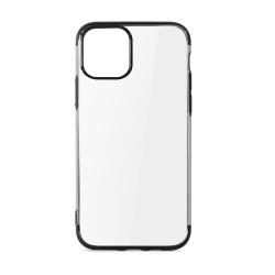 muvit funda Cristal Soft Edition Apple iPhone 11 Pro transparente borde electroplating negro