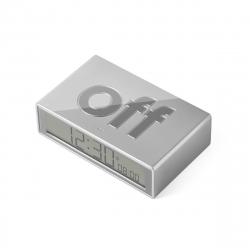 Lexon Reloj Despertador Flip+ Gris