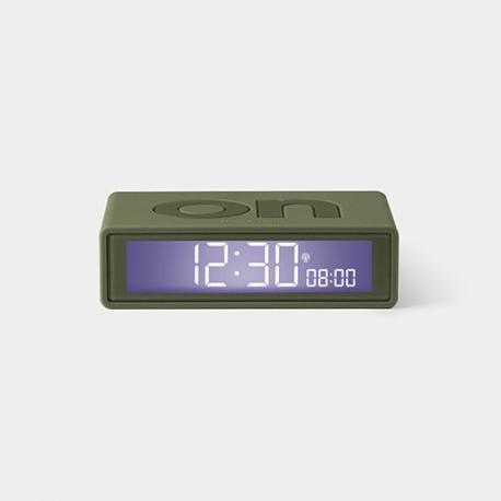 Lexon Reloj Despertador Flip+ Kahki