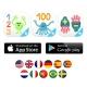 Marbotic Smart Numbers juego interactivo de madera para aprender a contar