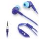 muvit auriculares estéreo con micrófono 3,5mm cable plano azul/azul