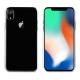 muvit pack Apple iPhone XR carcasa Cristal transparente + protector pantalla vidrio templado plano