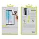 muvit pack Huawei P30 funda Cristal Soft transparente + protector pantalla vidrio templado plano marco negro