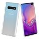 muvit pack Samsung Galaxy S10 Plus funda Cristal Soft transparente + protector pant. vidrio templado curvo marco negro