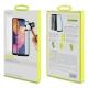 muvit pack Samsung Galaxy A10 funda Cristal Soft transparente + protector pantalla vidrio templado plano marco negro